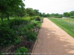 Gardens and Path by Lake Harriet in Minneapolis MN