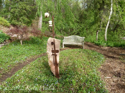 Garden Art and Bench